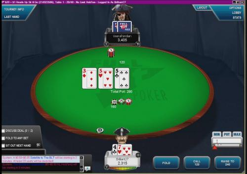 Deep Stack Heads Up Sit and Go Poker Video Brilliant27