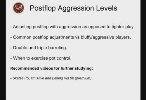 Aggression levels in heads up sit and go poker for heads up nl cash poker players