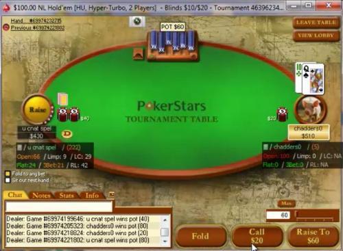 pokerstars login page