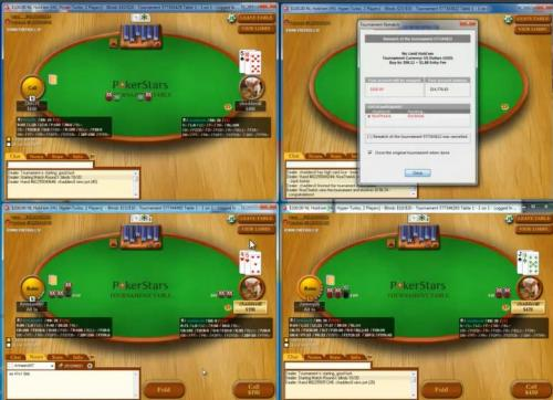 Chadders0 Multi Tabling Poker Video