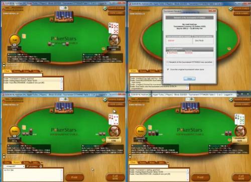 Chadders0 Multi Tabling Poker Video