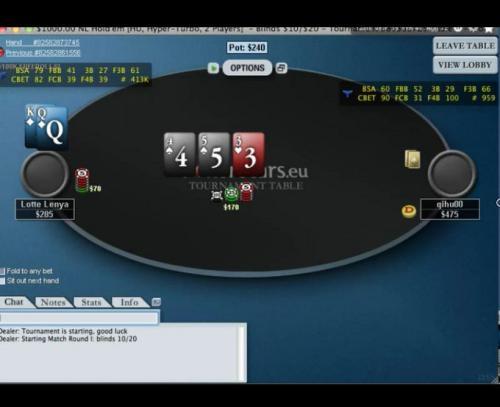 H2Olga heads up poker video