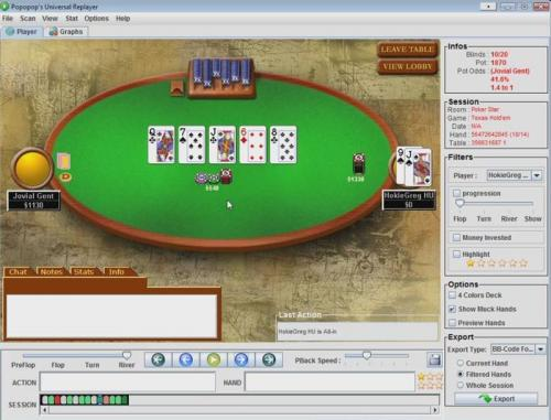 hokiegreg plays jovial gent in a high stakes heads up sng match
