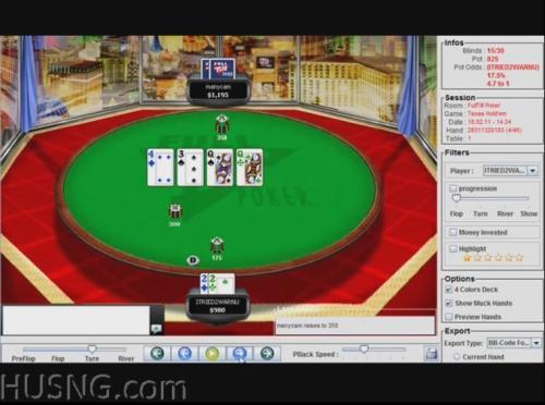 ITRIED2WARNU playing 360 heads up poker shootout on full tilt