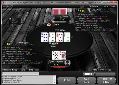JackTheShipper's Hyper Turbo Heads Up SNG Series