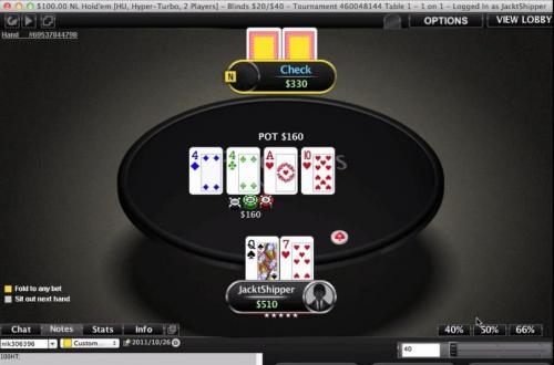 JackTheShipper Hyper Turbo Heads Up Poker Video Series $100 Level