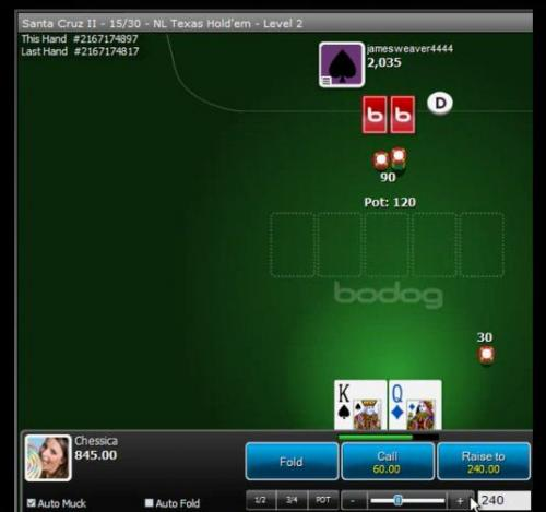 Katipo at the $100s against a semi regular heads up sng opponent