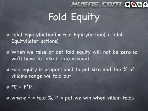 Fold Equity and Math in HUSNG Poker