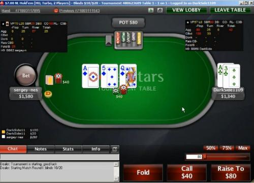 mjw006 heads up turbo speed leakfinder poker video