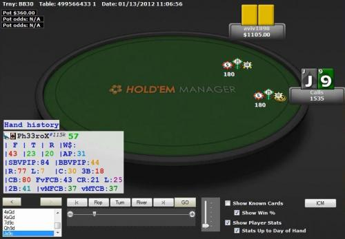 Ph33roX $300 Level Heads Up Poker River Strategy Decision
