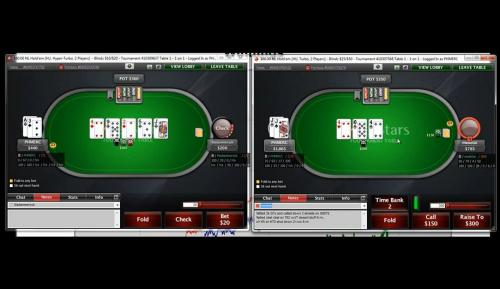 PHMERC plays at the $60 heads up sng poker level on PokerStars