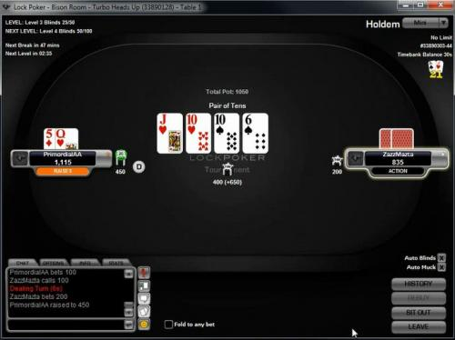 PrimordialAA on the Merge network playing heads up sng poker