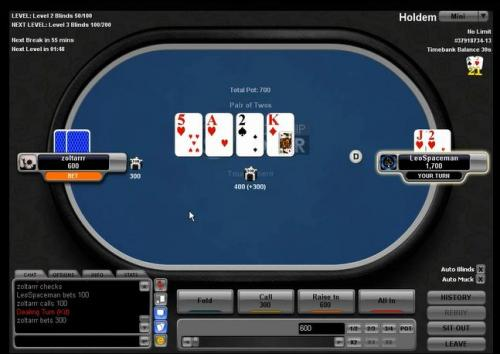 RyPac plays super turbo heads up sng on Black Chip